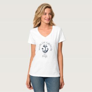Nautical Anchor Mom of Groom T-Shirt
