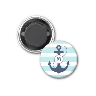 Nautical Anchor Mongram Refrigerator Magnets