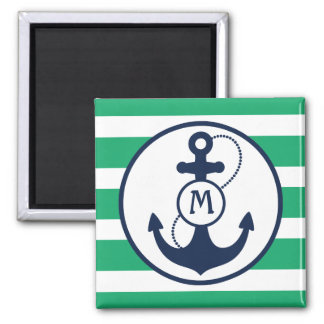 Nautical Anchor Mongram Fridge Magnets