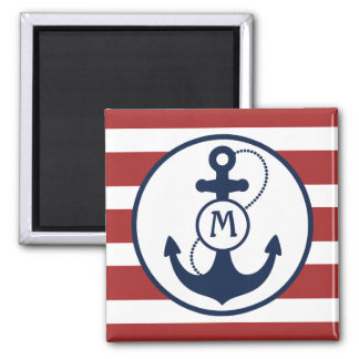 Nautical Anchor Mongram Magnet