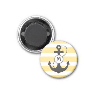 Nautical Anchor Mongram Magnet