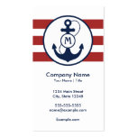 Nautical Anchor Monogram Business Card