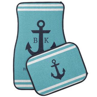 Nautical Anchor Monogram Car Mats (set of 4) Floor Mat