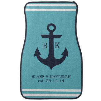 Nautical Anchor Monogram Car Mats Floor Mat