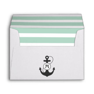 Nautical Anchor Monogram Envelope