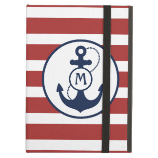 Nautical Anchor Monogram iPad Folio Cases