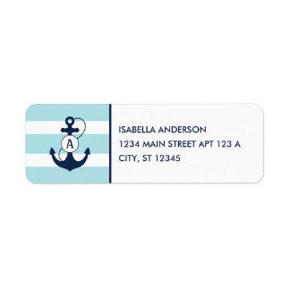 Nautical Anchor Monogram Label