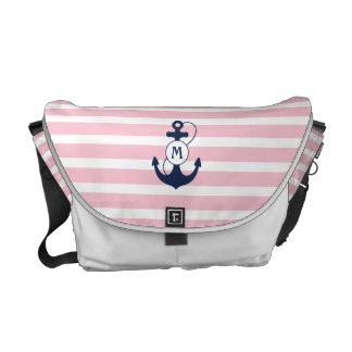 Nautical Anchor Monogram Messenger Bag
