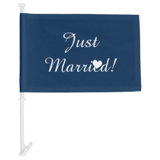 Nautical anchor monogram wedding car window flag