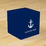 Nautical Anchor Navy Blue Personalized Favor Box