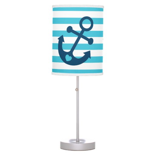 Nautical Anchor Nursery Lamp