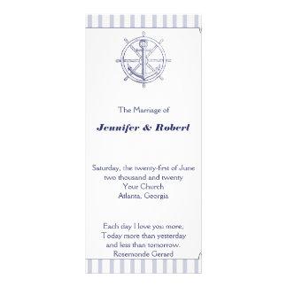 Nautical Anchor on Grey Stripe Wedding Program
