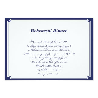 Nautical Anchor on Navy Wedding Rehearsal Custom Invites