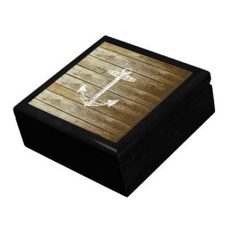 Nautical Anchor on wood graphic Keepsake Box
