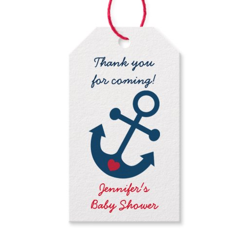 Nautical Anchor Party Favor Tags