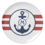 Nautical Anchor Party Plate