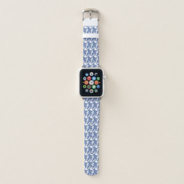 Ocean Themed Nautical Anchor Pattern Apple Watch Band