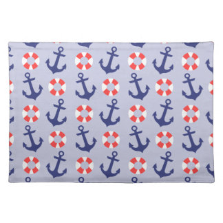 Nautical Anchor Pattern Cloth Placemat