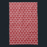 "Nautical Anchor Pattern in Red Towel<br><div class=""desc"">This design features a pattern of anchors on top of a red background. This is the perfect gift for anyone you know who likes to sail,  or who is a fan of the nautical fashion trend.</div>"