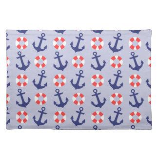 Nautical Anchor Pattern Cloth Place Mat