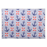Nautical Anchor Pattern Placemats