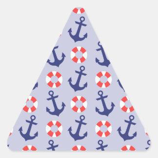 Nautical Anchor Pattern Triangle Sticker
