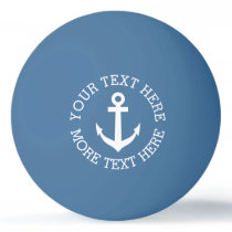Nautical anchor ping pong balls for table tennis