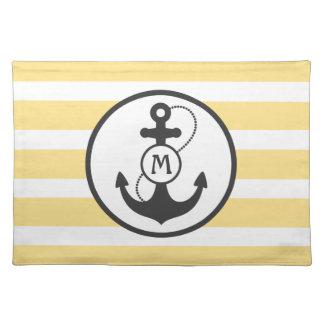 Nautical Anchor Cloth Place Mat