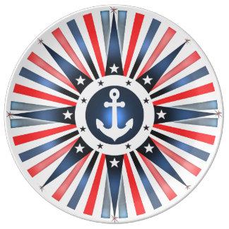 Nautical Anchor Plate Patriotic