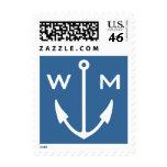 Nautical anchor postage stamps | Sailing monogram