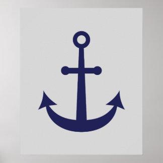 Nautical Anchor Poster