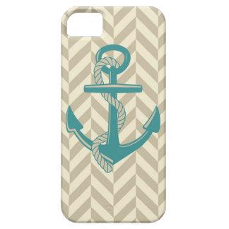 Nautical Anchor Print Design Boat Ocean Art iPhone SE/5/5s Case