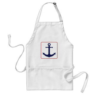 Nautical Anchor - Red White and Blue Adult Apron