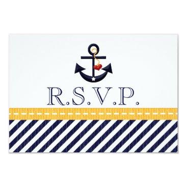 Beach Themed Nautical Anchor RSVP Response Cards