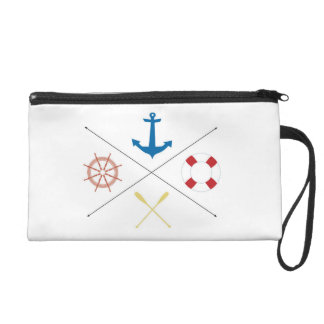 Nautical Anchor Sail Sailin Make Up Bag Tote Purse