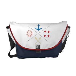 Nautical Anchor Sail Sailing Boat Bag Tote Purse Messenger Bags