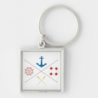 Nautical Anchor Sail Sailing Boat Ore Key Chain