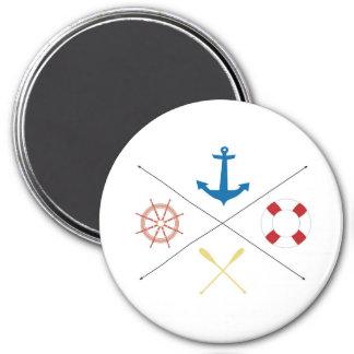 Nautical Anchor Sail Sailing Boat Ore Steer Magnet