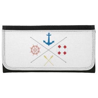 Nautical Anchor Sail Sailing Boat Ore Steer Wallet