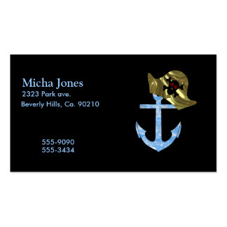 Nautical Anchor & Sailor Skull Hat Double-Sided Standard Business Cards (Pack Of 100)