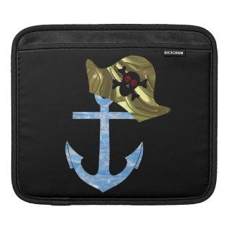 Nautical Anchor & Sailor Skull Hat iPad Sleeve