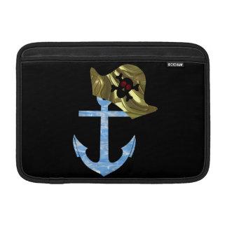 Nautical Anchor & Sailor Skull Hat MacBook Air Sleeve