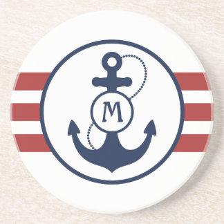 Nautical Anchor Sandstone Coaster