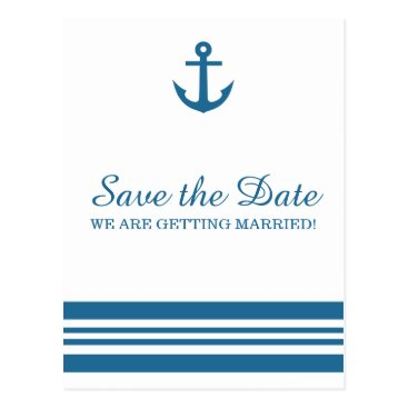 trendythings Nautical Anchor Save the Date Postcard