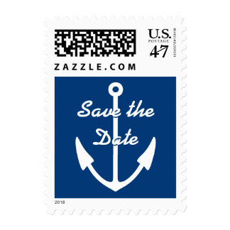 Nautical anchor save the date wedding stamps
