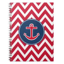 Nautical Anchor School Notebook Journal Gift