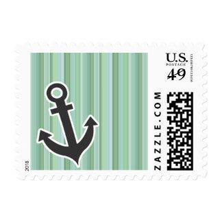 Nautical Anchor Seafoam, Sage Green, & Baby Blue Stamp