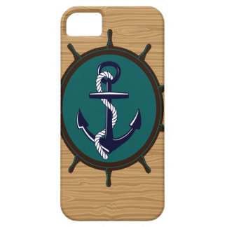 Nautical Anchor Ships Wheel Helm Sailor Design iPhone 5 Covers