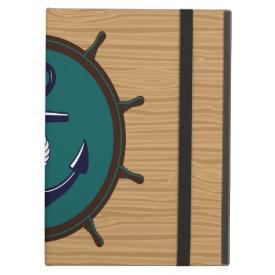 Nautical Anchor Ships Wheel Helm Sailor Design iPad Covers