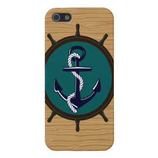 Nautical Anchor Ships Wheel Helm Sailor Design Covers For iPhone 5